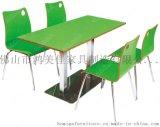 员工餐桌椅,四人位分体员工餐桌椅广东鸿美佳厂家定制