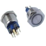 22MM自鎖式/復位式帶燈金屬按鈕開關