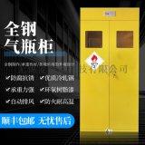 全鋼氣瓶櫃高端定制氣瓶櫃帶智慧報警器排風鋼瓶櫃防爆櫃