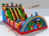 大型充氣玩具汽包 兒童蹦蹦牀去哪裏定做最實惠,熊出沒光頭強充氣大滑梯。