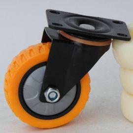3寸 4寸金鑽萬向輪 靜音萬向輪腳輪 耐磨pvc萬向剎車輪批發