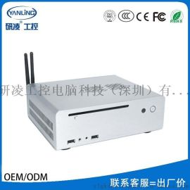 研凌工控HT80高清播放電腦 高端家用電視盒子 i3處理器