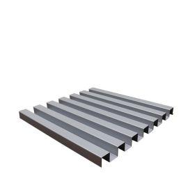 廠家直供鋁鎂合金瓦楞板房頂建築外牆仿木紋色長城板