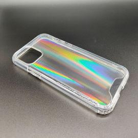 廠家訂做內防摔透明漸變極光手機殼1.5mm厚