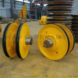卷扬机导向轮 单双梁吊钩抓斗滑轮组 50t提升滑轮