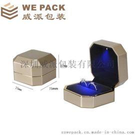 现货热销金色高光LED灯盒包装礼品首饰盒