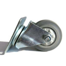 衡水脚轮厂家 3寸灰胶万向轮 TPR静音脚轮