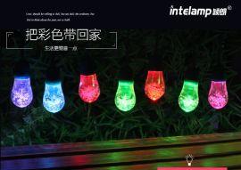颖朗 太阳能灯串 led彩球灯户外防水节日装饰灯小圆球满天星彩灯闪灯串灯庭院灯