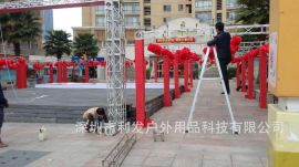桁架搭建展架搭建含背景图案按要求印广告上门