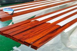 自然木紋鋁合金方管 簡約鋁方管木紋風格