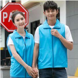 男女同款活动衫商场超市促销员工休闲马甲定做可印制企业店标LOGO