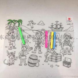 創意食品級硅膠卡通餐墊 兒童繪畫塗鴉練習墊