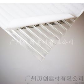 歷創 10mm透明PC陽光板 車棚雨棚 廠家直銷