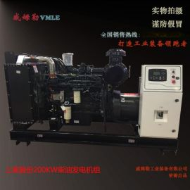 上柴全銅200千瓦發電機組 200KW發電機組  高性價比發電機 威姆勒