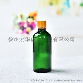 玻璃精油瓶绿色滴管瓶蓝色精油瓶