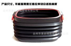 方形伸縮式收納箱模具  圓形提拉式收納桶模具 車載收納箱模具