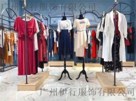 茜可可19韩版甜美连衣裙品牌折扣女装实体店进货网