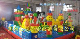 云南儿童充气蹦蹦床 60平方中小型充气城堡滑梯现货物美价廉