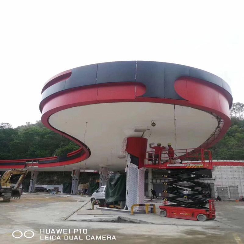 加油站S型防風鋁條扣生產