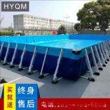 戶外大型支架游泳池鋼架水池可移動水上樂園成人闖關設備充氣滑梯