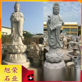 石雕滴水观音 寺庙供奉石雕观音佛像保平安