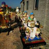 玻璃钢五路财神 玻璃钢武财神 文财神神像雕塑厂