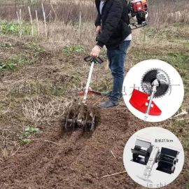 自贡市四冲程背负式打草机松土机家用收割除草机
