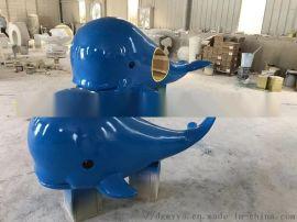 武夷山水上乐园的仿真海洋生物玻璃钢鲸鱼雕塑