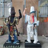 1米城隍爷城隍奶奶神像高清细节图 城隍爷佛像的典故
