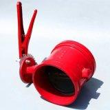 白湖消防专用蜗轮沟槽蝶阀