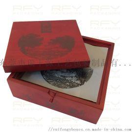 茶饼茶砖茶叶包装盒,  实木修色喷漆