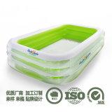透明方形PVC充氣兒童戲水池成人遊泳池家庭戶外泳池