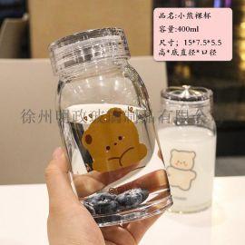 耐热水杯情侣杯创意简约杯潮流杯清新水杯