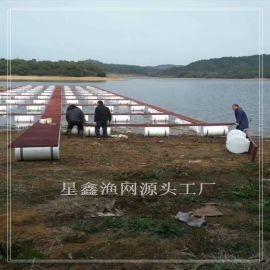 网箱加工 大水面网箱养鱼,大规模网箱设计方案