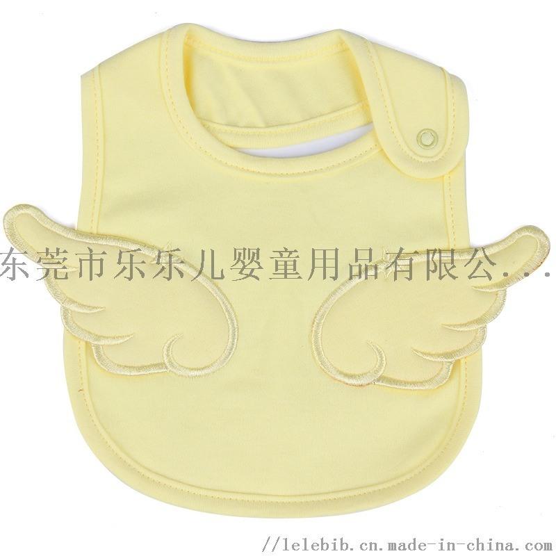 婴儿口水巾纯棉围嘴天使刺绣围兜小孩防脏防水儿童围巾