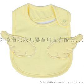 嬰兒口水巾純棉圍嘴天使刺繡圍兜小孩防髒防水兒童圍巾
