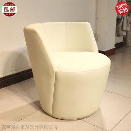 北欧设计师休闲椅单人沙发