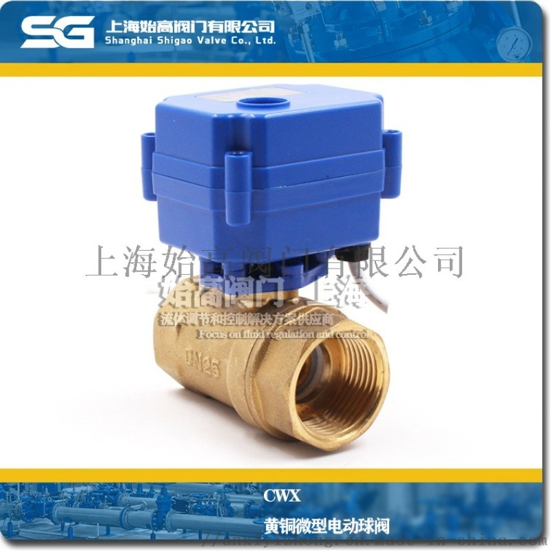 微型电动球阀,双内丝CWX系列电动球阀