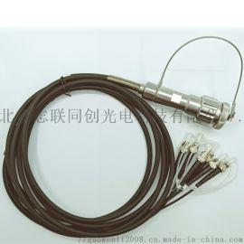 水密6芯防水连接器 光纤插头 光纤插座 耐水深水下500米