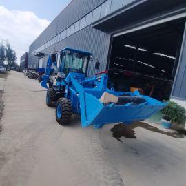 小型挖掘机 工程挖机两头忙 轮胎式四驱装载机