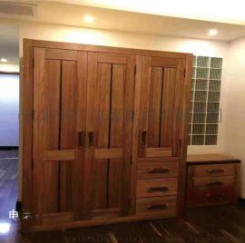 牛仔部落 西部牛仔风格卧室衣柜  北欧艺家家具
