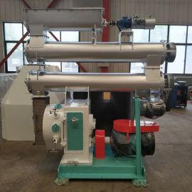 内蒙时产1-3吨颗粒加工成套生产设备 35环模猫砂颗粒机