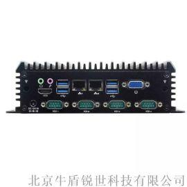 嵌入式工控机四核双网口工业电脑主机