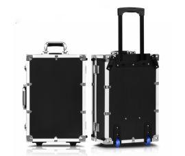 拉杆工具箱多功能仪器设备箱滚轮式铝合金手提密码箱