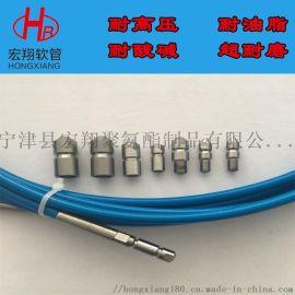 高压清洗机疏通软管,耐磨尼龙树脂高压水清洗软管