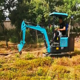 园林挖掘机 狭窄道路用小型挖土机价格 六九重工农田