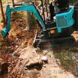小型化粪池挖沟机 小型液压挖掘机 六九重工 履带式
