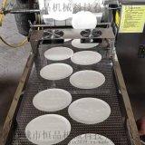 春捲皮這樣的生產機器 春捲皮加工過程