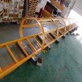 化工厂用玻璃钢耐腐蚀直梯带护笼玻璃钢梯子