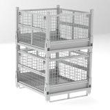 折叠金属网箱 钢制料箱 物流箱 可堆垛